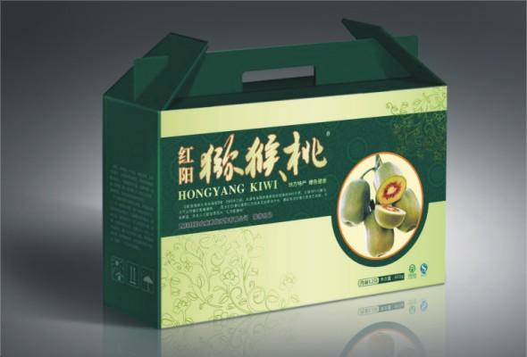 猕猴桃包装纸箱的制作讲究的是绿色环保,承重能力以及携带的方便,我